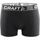 """Craft Greatness Ondergoed onderlijf Heren 3"""" zwart"""